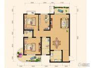 雅厦・中央山水3室2厅2卫115平方米户型图