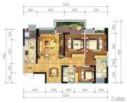 远大中央公园3室2厅2卫99--109平方米户型图