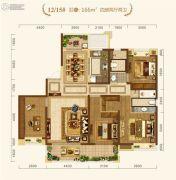 中建・宜昌之星4室2厅2卫166平方米户型图