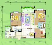 慢哉3室2厅2卫120平方米户型图