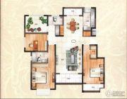 绿地泰晤士新城3室2厅2卫130平方米户型图