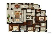 金地天境4室3厅5卫0平方米户型图