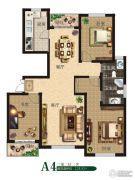 公园世家3室2厅2卫125平方米户型图