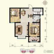 明瀚花香城2室2厅1卫87平方米户型图