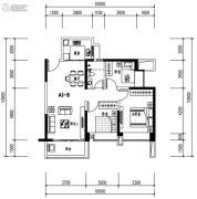 华发城建未来荟3室2厅2卫103平方米户型图