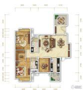 万科金润华府3室2厅2卫150平方米户型图