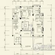 泰然南湖玫瑰湾4室2厅2卫154平方米户型图