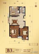 滨河龙韵2室2厅1卫91平方米户型图