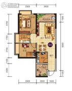 胜利雅苑3室2厅1卫80平方米户型图