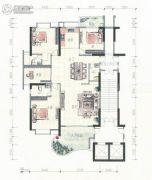 金都花园4室2厅3卫195平方米户型图