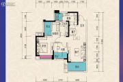 东原城3室2厅1卫86平方米户型图