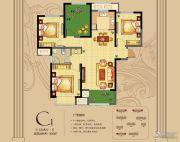 朗悦公园道1�4室2厅1卫108平方米户型图