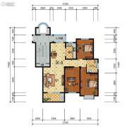 步阳江南甲第3室2厅1卫122平方米户型图