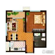 泰山路99号1室1厅1卫56平方米户型图