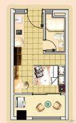 新城市宜家1室1厅1卫29平方米户型图