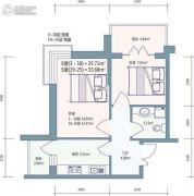 好民居滨江新城2室0厅1卫0平方米户型图