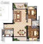 联泰・滨江中心2室2厅1卫98平方米户型图
