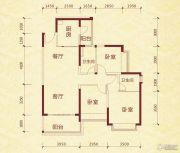 成都恒大金碧天下3室2厅2卫110平方米户型图