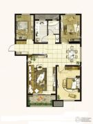 学府雅居3室2厅1卫143平方米户型图