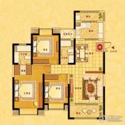 中南世纪花城3室2厅2卫130平方米户型图