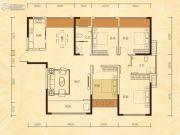 公园华府4室2厅2卫142平方米户型图