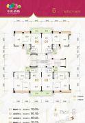 中澳春城3室2厅2卫78--98平方米户型图
