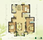 中国铁建・国际花园3室2厅2卫128平方米户型图