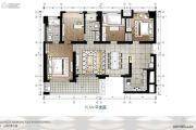 鹏广达山海四季城4室2厅2卫89平方米户型图
