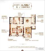 泰州碧桂园・林湖郡 高层3室2厅2卫126平方米户型图