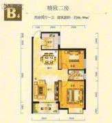 金州星城2室2厅1卫86--90平方米户型图