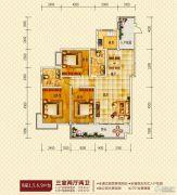 湘府湘城3室2厅2卫138--139平方米户型图