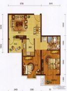 红海湾皇家海岸一期2室2厅1卫75平方米户型图