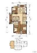 东晟泰和园3室2厅2卫0平方米户型图