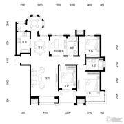 中海国际社区3室2厅2卫155平方米户型图