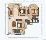 红星商业广场二期3室2厅2卫111平方米户型图