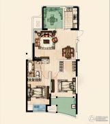 翡丽蓝湾3室2厅1卫99平方米户型图