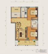 勒泰城2室2厅1卫90平方米户型图