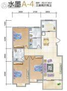 天元棠樾湖居3室2厅2卫0平方米户型图