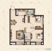美岸观邸2室2厅1卫88平方米户型图