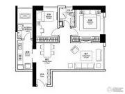 华润悦府2室2厅1卫90平方米户型图