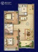 御景尚都2室2厅1卫85平方米户型图