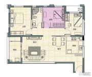 阳光100国际新城3室2厅1卫104平方米户型图