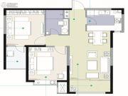观海路8号2室2厅1卫91平方米户型图