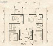 东盟华府3室2厅2卫133平方米户型图