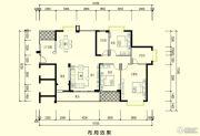智弘银城绿洲3室2厅2卫145平方米户型图