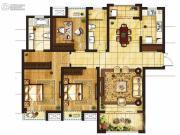 吴中豪景华庭3室2厅2卫143平方米户型图