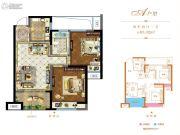 和昌悦澜2室2厅1卫83平方米户型图