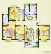 明瑞花园4室2厅2卫154平方米户型图