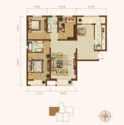 龙城帝景3室2厅2卫131平方米户型图