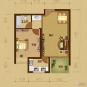 江南山水1室1厅1卫59平方米户型图